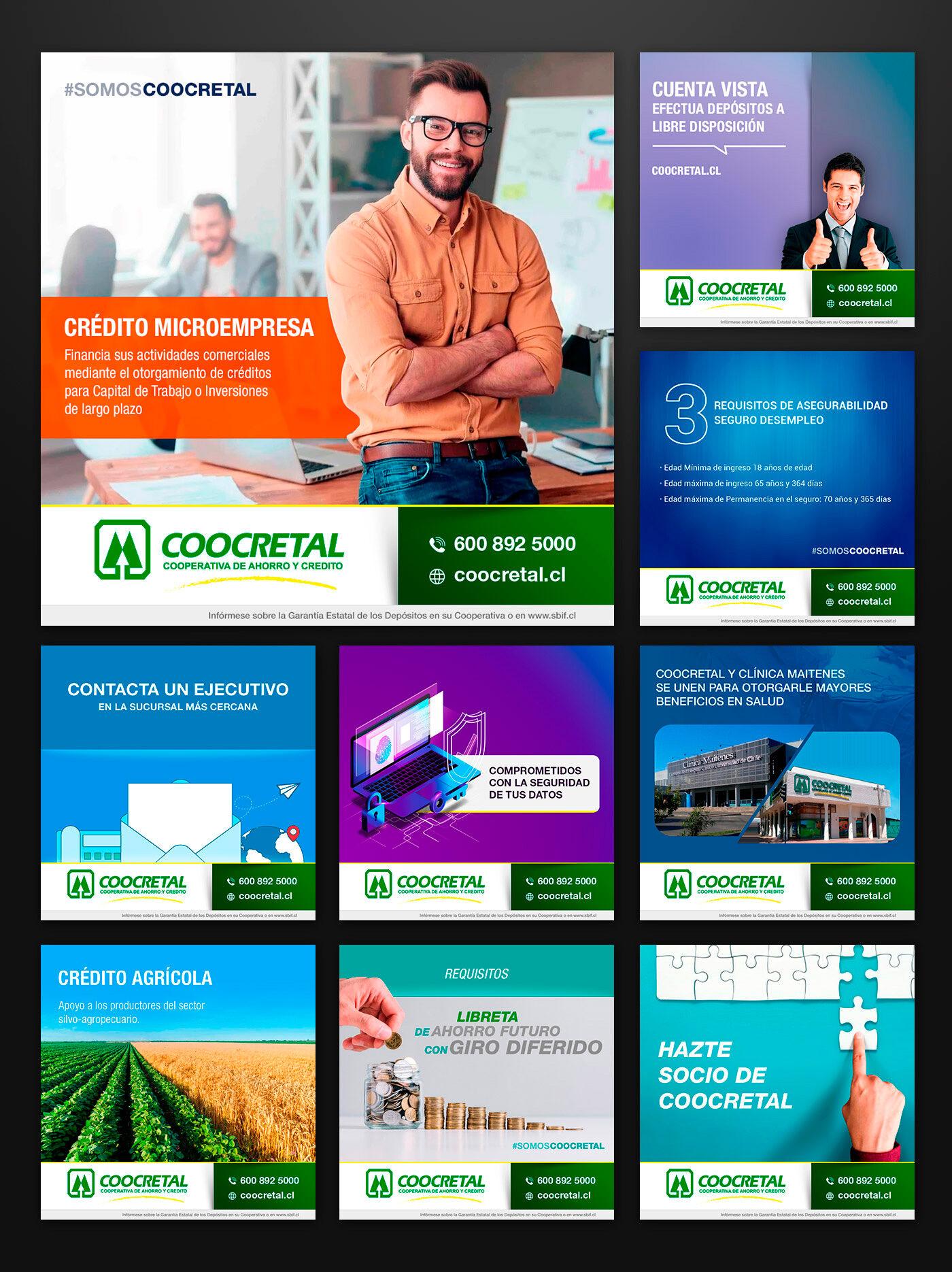 Gestión en Redes Sociales para Coocretal - Cooperativa de Ahorro y Crédito