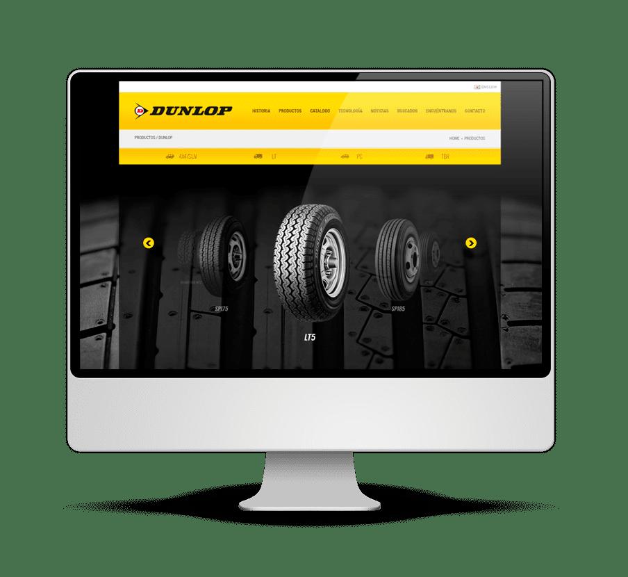 Dunlop - Diseño y Desarrollo Web